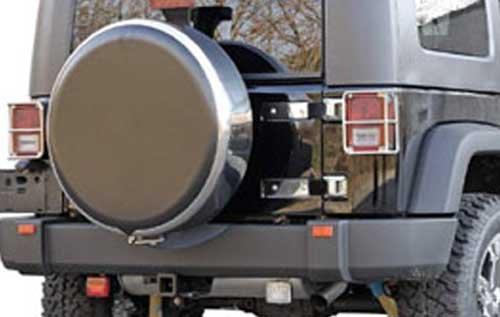 Funda de rueda de auxilio con Flejadora acero/inoxidable y centro de plástico (Universal): Amazon.es: Coche y moto