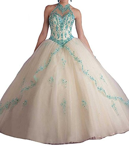 Girls' Tulle Dresses Dresses Ball White Bridal Gown Long Prom Quinceanera Aurora aPZ5q0
