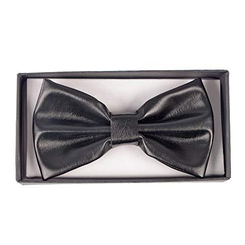 (Men's Metallic Liquid Black Banded Bow Tie Gary Majdell Sport (Black))
