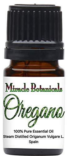 Price comparison product image Miracle Botanicals Oregano Essential Oil - 100% Pure Origanum Vulgare L. - Therapeutic Grade 5ml