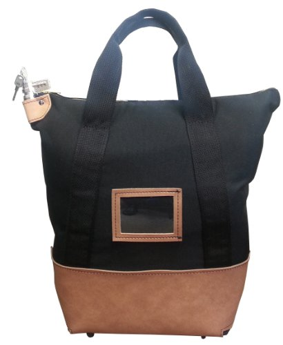 Bag Courier Bags - Locking Courier Bag 1000 Denier Nylon Combination Lock Black