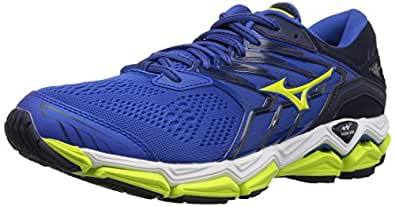 Mizuno Wave Horizon 2 Men's Running Shoes, surf The Web/Lime Punch, 7 D US