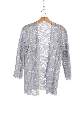 New Julianna's Long Sleeve Lace Bolero Bridal Jacket Bodice Fully Lined Shrug Jacket Plus S-5X (SILVER, MEDIUM)