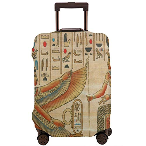 Luggage Cover Ancient Egyptian Women Girl Culture Personalized Travel Suitcase Cover Protector Bag Dustproof Washable Fits 18-32 Inch Luggage ()
