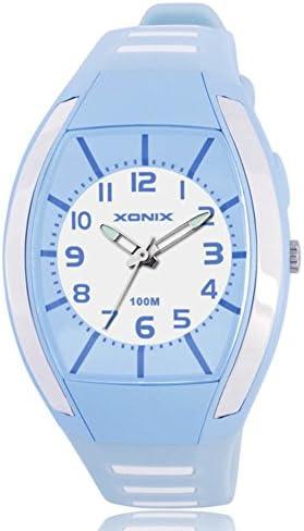 子供腕時計光学生少年少女防水ポインタクォーツwatches-a