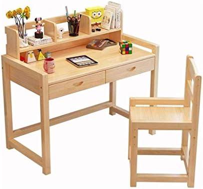 HEMFV Classic Kids Desk y Juego de sillas, Mesa de Estudio de los niños con el Estante y cajón, Muebles for niños: Amazon.es: Hogar