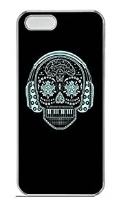 iPhone 5 5S Case Skull 3 Funny Lovely Best Cool Customize iPhone 5S Cover Transparent