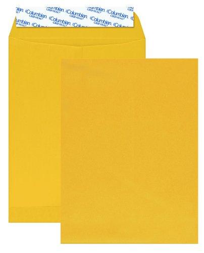 Grip Envelopes Seal Catalog - Columbian Manila Envelopes, 9 x 12 Inch, Grip Seal, Mailing Envelopes, 100 Per Box (CO922)
