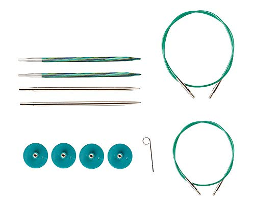 Knit Needle Size - Knit Picks Try IT Interchangeable Knitting Needle Set - Caspian Wood and Nickel Plated Tips (Sizes US 6 and 7)