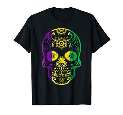Fat Tuesday T shirt: Mardi Gras Skull ()