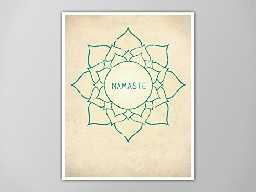 Amazon.com: Namaste Lotus Print, Lotus Art Print, Yoga ...