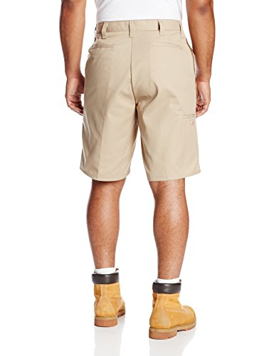 Dickies Occupational Workwear LR642DS 48 Polyester/ Cotton Relaxed Fit Men's Premium Industrial Multi-Use Pocket Short with Hidden Snap Closure, 48'' Waist Size, 11'' Inseam, Desert Sand by Dickies Occupational Workwear (Image #2)