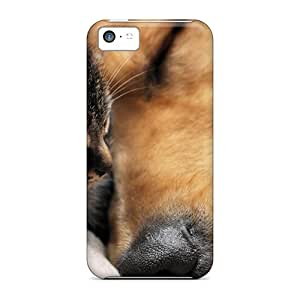 Iphone Covers Cases - Cat And Dog Wallpaper Protective Cases Compatibel With Iphone 5c