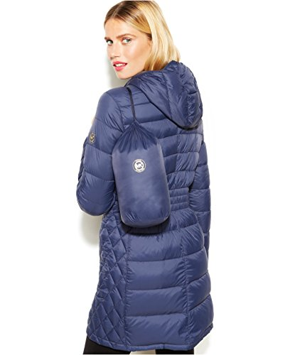 144fb133fcc9 Amazon.com  MICHAEL Michael Kors Quilted Down Packable Puffer Coat - Black  (Large)  Clothing