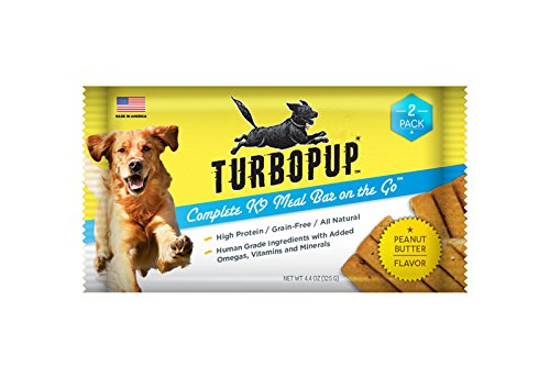 2 pack As Seen on Shark Tank TurboPUP Complete K9 Meal Replacement Bar, Peanut Butter Flavor 2 Bars (4.4 oz)