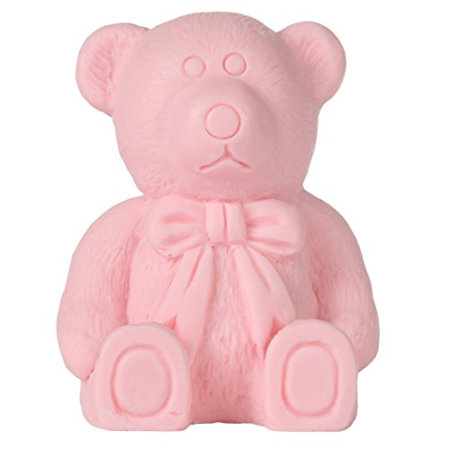 Lily's Home Teddy Bear Baby Shower Soap – Unique Premium Handmade Soap. The Perfect Baby Shower Gifts (Pink)