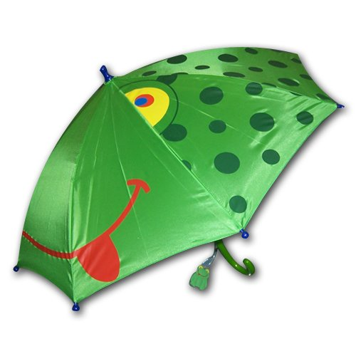 Kids boy's Green Frog Umbrella – Happy Frog face, Bags Central