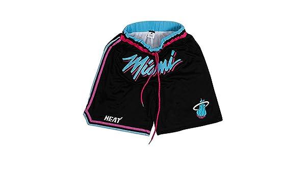 Pantalones cortos de baloncesto para hombre tejido doble, transpirable, buena elasticidad, adecuado para baloncesto, fitness GENERICS Miami Heat