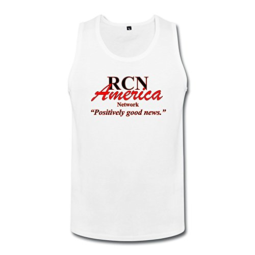 Qincent Funny Mens Tank Top Organic Cotton Tshirt/Rcn America Logo