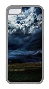 iPhone 5C Case,iPhone 5C Cases Dark Clouds Above Farmland TPU Silicone Back Cover Case for iPhone 5c - Transparent
