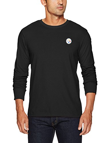 Pittsburgh Steelers Black Crew Shirt (OTS NFL Pittsburgh Steelers Men's Rival Long Sleeve LCCB Tee, XX-Large, Jet Black)