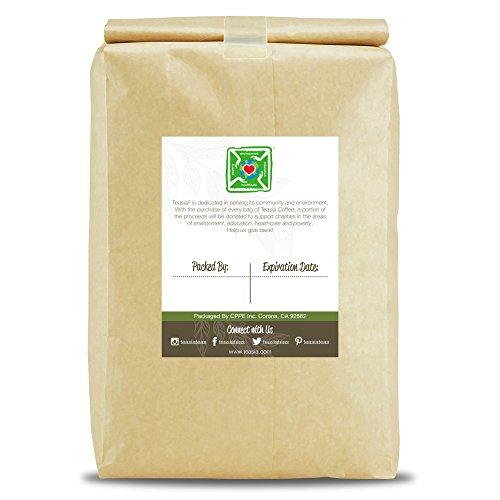 Teasia Coffee, Brazil Fazenda Green, Unroasted Whole Coffee Beans, 5-Pound Bag