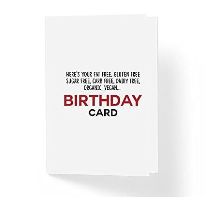 Amazon Funny Sarcastic Humor Unisex Birthday Wishes Card