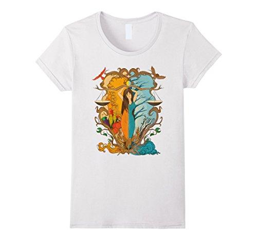 Medium Cupboard (Womens Wiccan Magick Crones Cupboard Autumn Equinox Mabon Shirt Medium White)