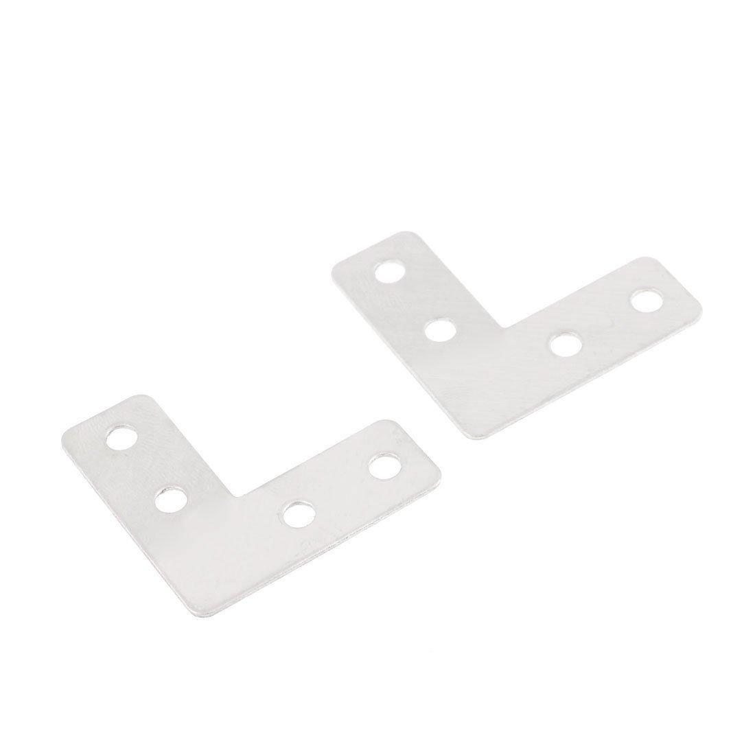 eDealMax 2 piezas DE 40 mm x 40 mm en Forma de L 90 Grado Corner Bracket tono de Plata: Amazon.com: Industrial & Scientific