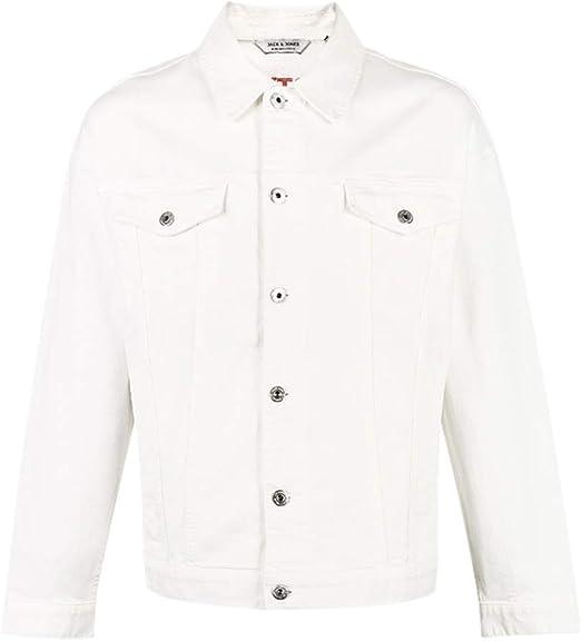 Abrigos Ropa/Hombre/Ropa Chaqueta de algodón para Hombre Blanco ...