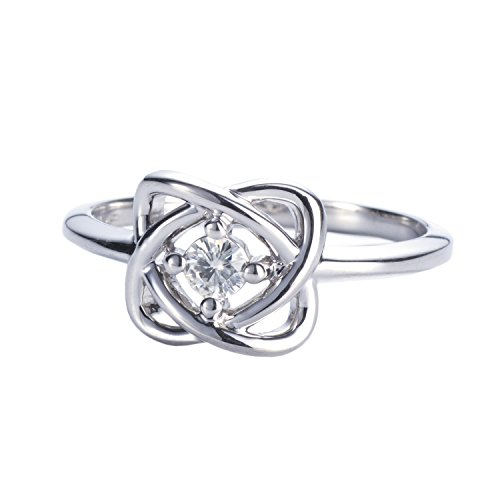 Forever Classic Round 3.25mm Moissanite Knot Fashion Ring-size 7 by Charles & Colvard