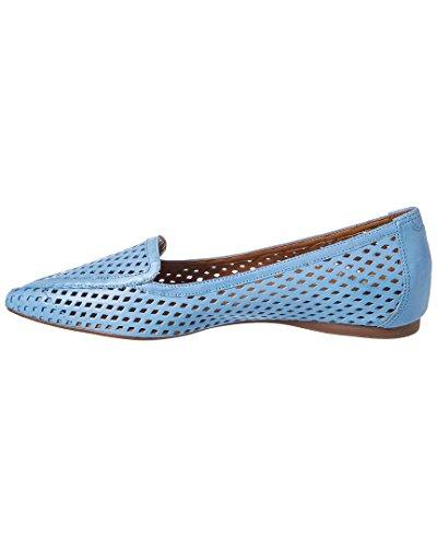 French Sole FS/NY Womens Vandalay Pointed Toe Flat Blue Jean Leather jBNPymJzs
