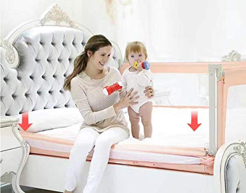 3 Set King (2 Set for 2 Length Side of The Bed and 1 Set for Feed Size of The Bed) Size Bed Safety Bed GuardRail Bed Fence for Children, Toddlers, Infants - Grey Color 2