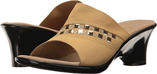 Onex Women's Maggy Wedge Sandal Tan Elastic best deals cheap visa payment cheap price buy discount DMPge