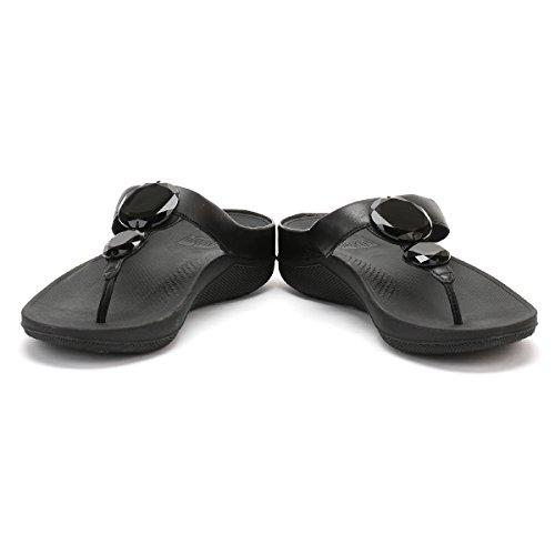 Fitflop Luna Pop - Sandalias con tacón Mujer Negro (Black)