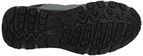 KangaROOS Botar W, Zapatos de Cordones Derby para Mujer Gris - Grau (Mid grey/scubablue 249)