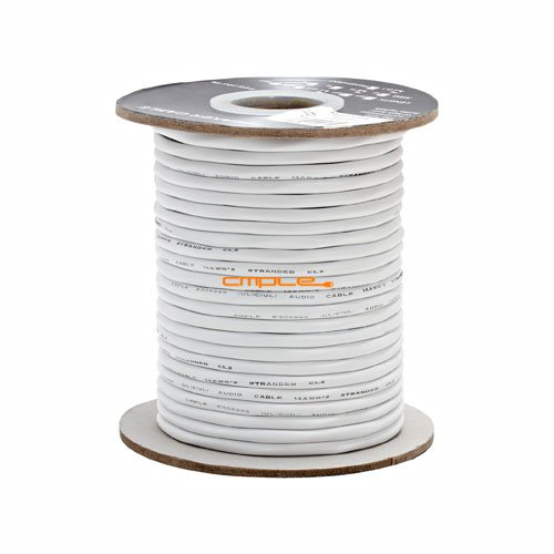 Cmple 14AWG CL2 Rated 2 Conductor Loud Speaker Cable 100 Feet for In-Wall Installation from Cmple