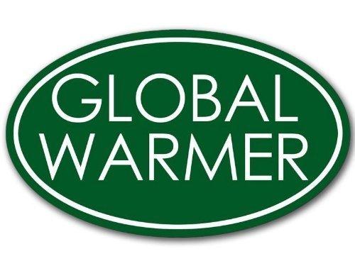 OVAL Global Warmer Bumper Sticker (anti liberal warming decal)
