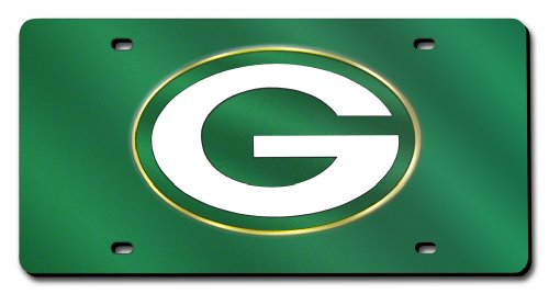 Green Bay Packers License Plate - Rico Industries NFL Green Bay Packers Laser Inlaid Metal License Plate Tag