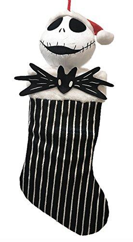 - Disney Tim Burtons The Nightmare Before Christmas Jack Skellington Hanging Stocking (Black Stripe)