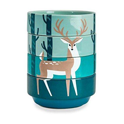 Kitsch'n Glam - Ceramic Stacking Bowls - Deer