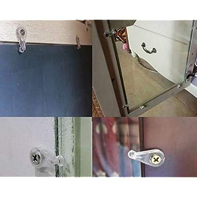 US/_Plastic Glass Panel Retainer Clips Mirror Holder Clips for Cabinet Door Walls