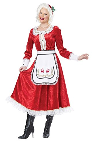 [POPLife Classic Mrs Santa Claus Christmas Adult Costume] (Mrs Claus Costume Makeup)