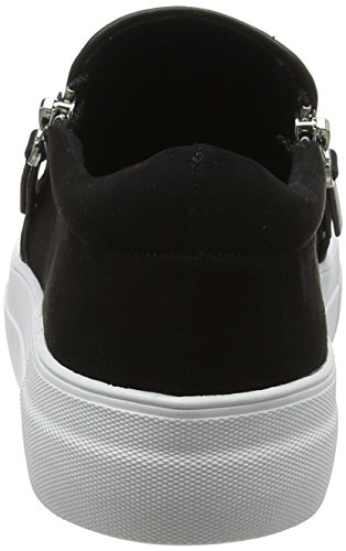 Noir 7492 01 1 515 Microsuede Femme black Baskets Enfiler Buffalo 05Oawxc