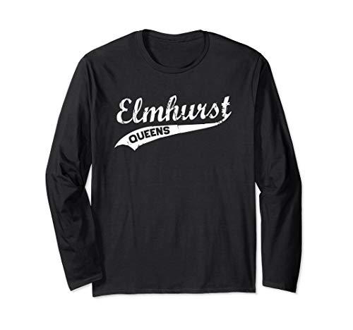 Elmhurst Queens Vintage NYC Retro Shirt Long Sleeve T-Shirt -