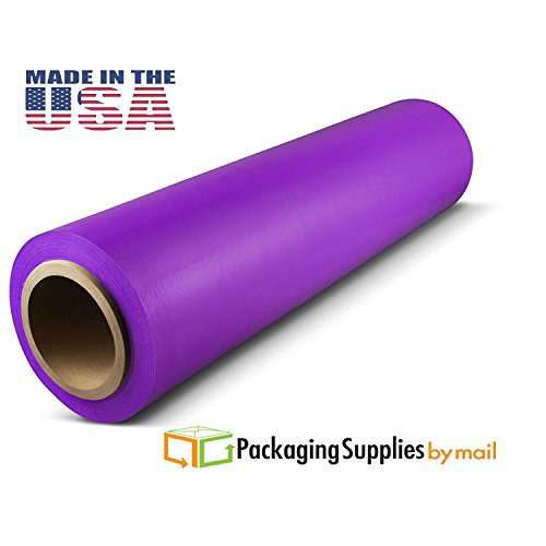 Color Stretch Wrap, 1500' Length x 18'' Width x 80 Ga, Dark Purple (36-Pack) by PSBM by PackagingSuppliesByMail