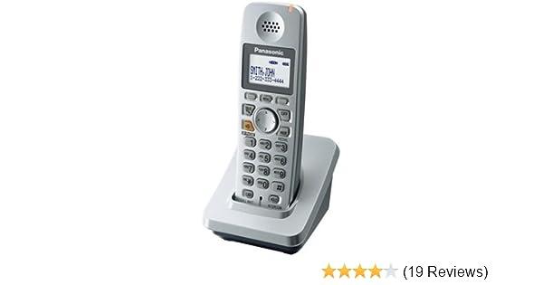 amazon com panasonic 5 8 ghz silver cordless phone kx tga600s rh amazon com