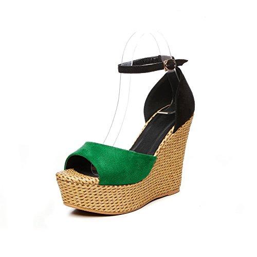 1TO9 MJS03514 Verde 35 Donna Green Ballerine ppwr4qU