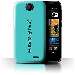 STUFF4 Phone Case / Cover for HTC Desire 310 / Blue/Love Shoes Design / Heart XOXO Collection