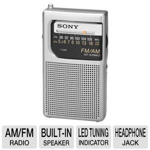 Sony ICF-S10MK2 Pocket AM/FM Radio, Silver